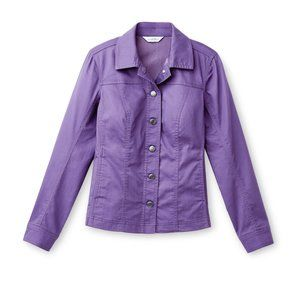 Purple coloured Northern Reflections jean jacket